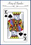 Spielkarte - König der Spaten Lizenzfreie Stockfotos