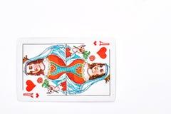 Spielkarte Königin von Herzen Stockfoto