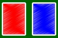 Spielkarte-Rückseite Stockfotos