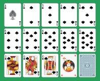 Spielkarte-Spaten-Klage Lizenzfreies Stockfoto