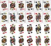 Spielkarte-Zahlen Sammlung Stockfotografie