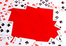 Spielkartefeld Lizenzfreies Stockbild