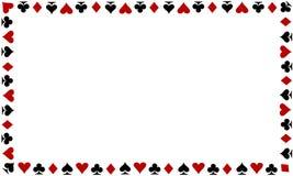 Spielkartegrenze auf weißem Hintergrund Stockfotos