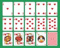 Spielkarteherzklage Lizenzfreie Stockfotos