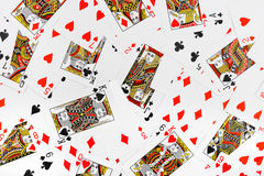 Spielkartehintergrund Stockfotografie
