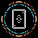 Spielkarteillustration - Kasinosymbol lizenzfreie abbildung