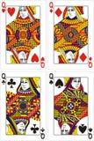 Spielkartekönigin   Stockfoto