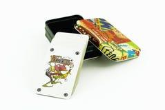 Spielkartekasten Stockbilder