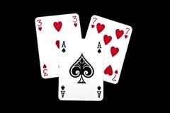 Spielkarten Stockbild