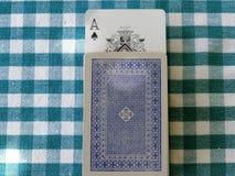 Spielkarten 3 Aces Stockfoto