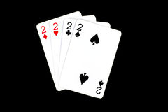 Spielkarten auf einem bunten weichen Hintergrund Lizenzfreie Stockbilder