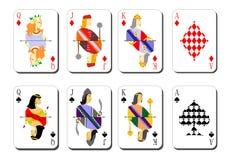 Spielkarten bubi Spitzen Stockfotos