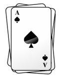 Spielkarten1710c Στοκ Εικόνες