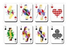 Spielkarten chirwa Vereine Lizenzfreie Stockbilder