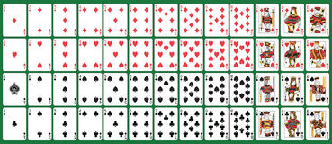 Spielkarten der vollen Plattform Lizenzfreie Stockfotos