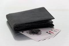 Spielkarten des Geldbeutels Lizenzfreies Stockbild