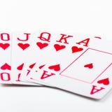 Spielkarten des königlichen Errötens Lizenzfreies Stockfoto