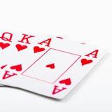 Spielkarten des königlichen Errötens Lizenzfreie Stockfotos