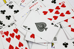 Spielkarten des Pokers Stockbilder