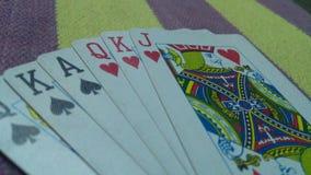 Spielkarten des Rommees Stockbild