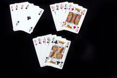 Spielkarten des Schürhakens Lizenzfreies Stockfoto