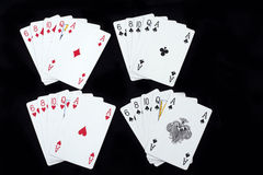 Spielkarten des Schürhakens Stockbilder