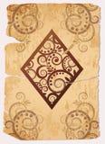 Spielkarten des Weinlese Diamond´s As-Schürhakens Lizenzfreie Stockbilder