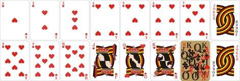 Spielkarten für Rommee und Cassino stock abbildung