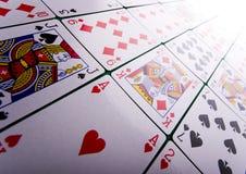 Spielkarten im Kasino Stockfoto