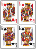 Spielkarten - Könige Lizenzfreies Stockbild