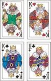 Spielkarten. Könige Lizenzfreies Stockfoto