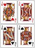 Spielkarten - Steckfassungen Lizenzfreies Stockbild