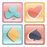 Spielkartenknopf Stockbilder