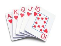 Spielkartepoker Stockbild