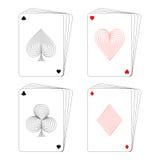 Spielkartepoker Vektor Abbildung