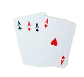 Spielkartepoker Aces Lizenzfreies Stockbild