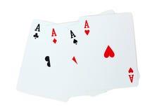 Spielkartepoker Aces Lizenzfreie Stockfotos