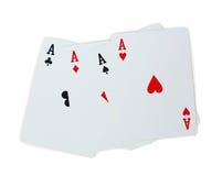 Spielkartepoker Aces Stockfoto