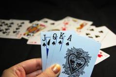 Spielkartespaten Lizenzfreie Stockfotos