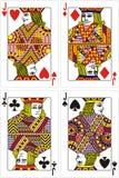 Spielkartesteckfassung   Lizenzfreies Stockfoto
