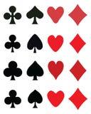 Spielkartesymbole Stockfotografie