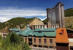 Spielkasinos im schwarzen Falken, Colorado lizenzfreies stockfoto
