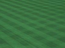 Spielklasse-Rasen mit mähen Zeilen stockfotos