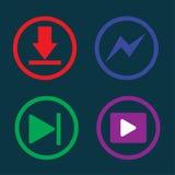 Spielmusik, Downloading, Ikone, Lizenzfreies Stockfoto
