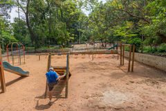 Spielplatz am Aclimacao-Park in Sao Paulo Stockbilder