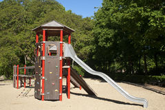 Spielplatz auf dem Sand horizontal Stockfoto