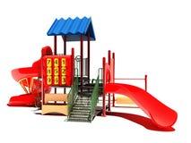 Spielplatz auf einem weißen Hintergrund Stockfoto