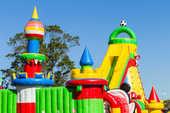 Spielplatz-aufblasbares Schloss Stockbilder