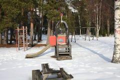 Spielplatz durch den See Stockbilder