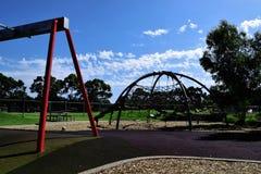 Spielplatz in einem Park Stockbild